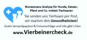 Bioresonanzanalyse per Tierhaaren für Hund Katze Pferd